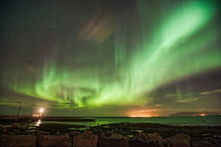 Aurora Borealis over Gróttuviti