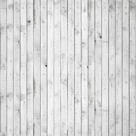 Seamless background texture of old white painted wooden lining boards wall