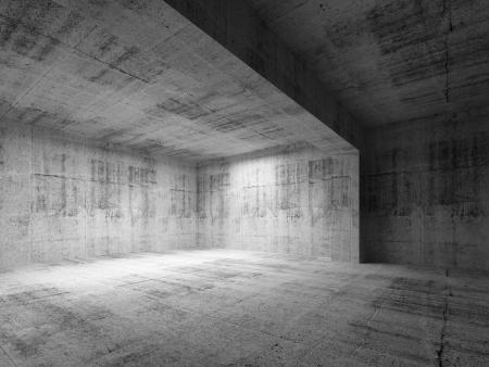 Empty dark abstract concrete room interior. 3d render illustration