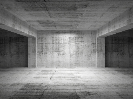 Empty dark abstract concrete room perspective interior. 3d illustration