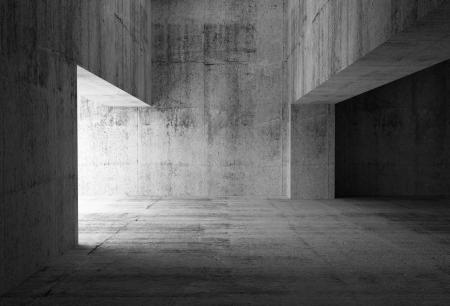 Photo pour Empty dark abstract concrete room interior  3d illustration - image libre de droit