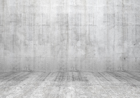 Foto de Abstract white interior of empty room with concrete wall and floor - Imagen libre de derechos