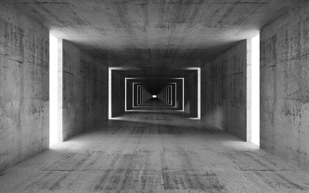 Photo pour 3d render, abstract empty gray concrete interior background - image libre de droit