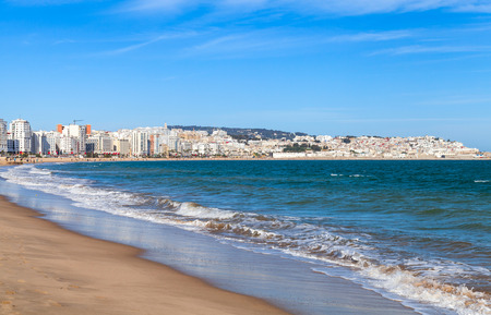 Tangier city and port, coastal landscape, Morocco, Africa
