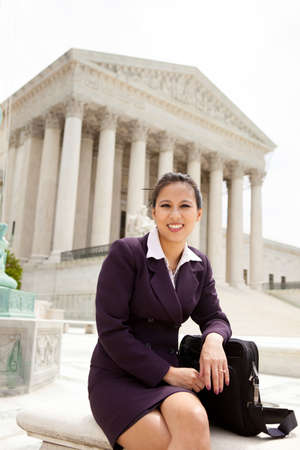 Asian business woman at the US Supreme Court