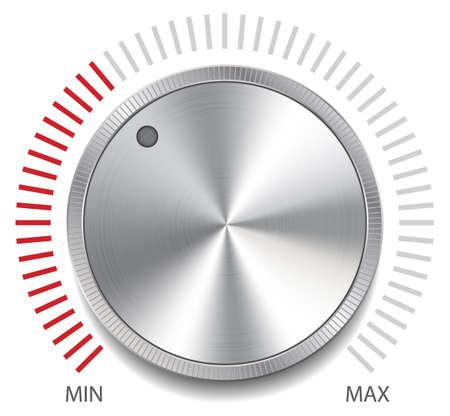 Volume Button Knob, Vector Illustration