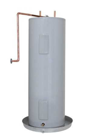 Residential Electric Water Heater Tank; isolated