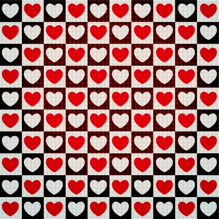 Illustration for valentine seamless hearts pattern - Royalty Free Image