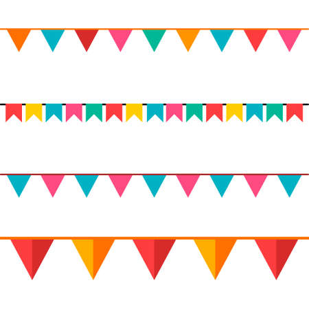 Illustration for Party Background with Flags Vector Illustration. EPS 10. - Royalty Free Image