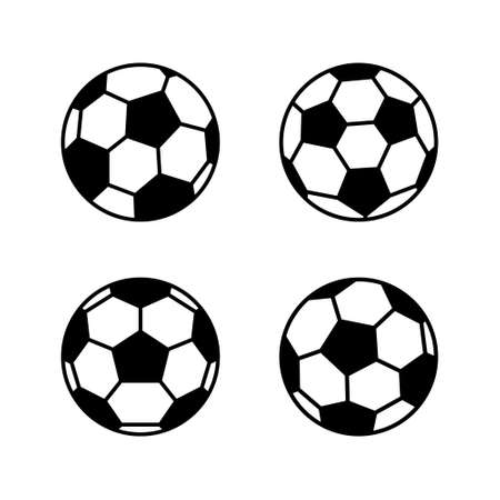 Illustration pour Soccer ball, simple style, icon. illustration isolated on white background. - image libre de droit