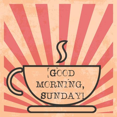 morning coffee pop art illustration