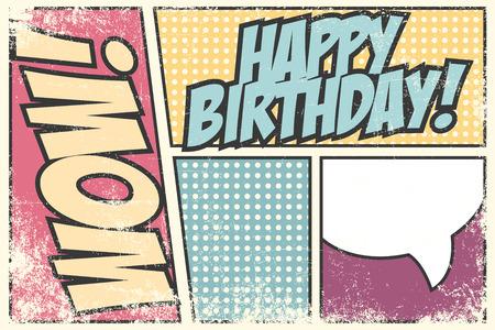 birthday party invitation, illustration in vector format