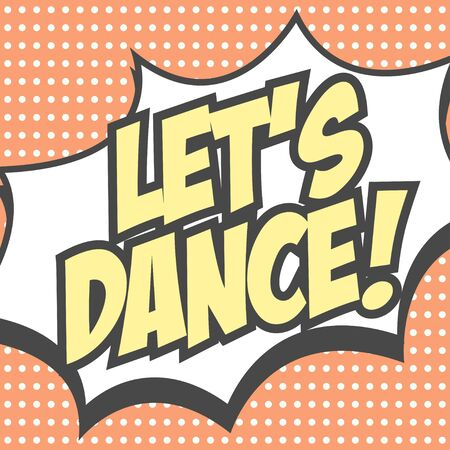 lets dance background illustration in vector format