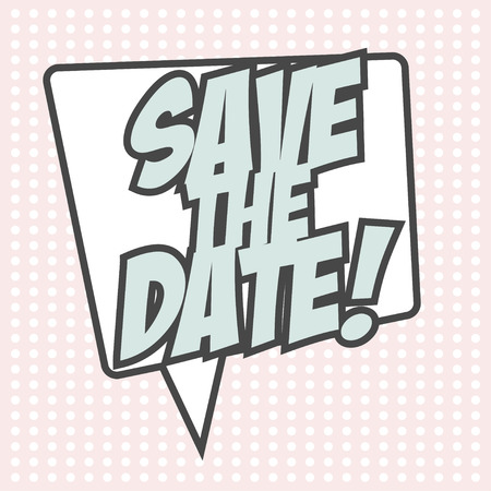 save the date, illustration in format