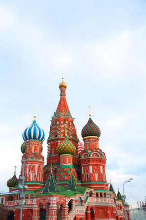 Famous St. Basil's Cathedral at Red Square in Moscow, Russia.