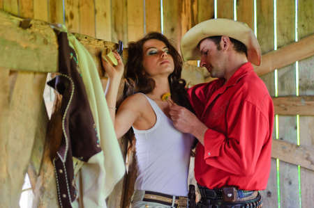 Love story in cowboy's style