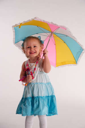 Photo for little girl with umbrella - Royalty Free Image