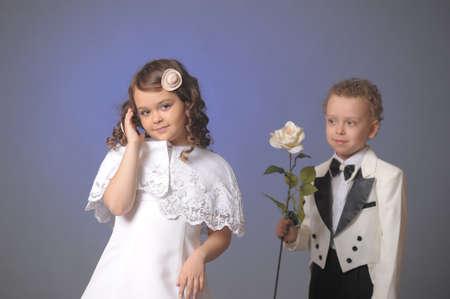 Photo pour Bride and groom  - image libre de droit