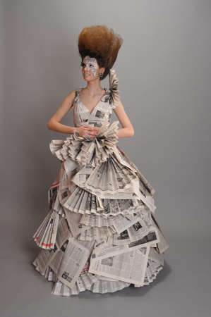 Girl in the newspaper