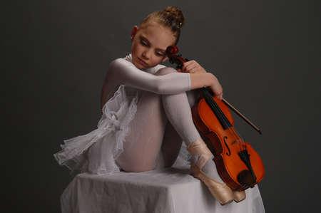 Ballerina Girl with violin