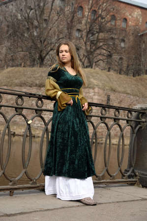 girl in medieval dress