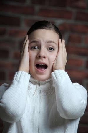 teen girl afraid