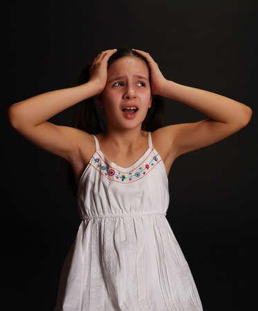 Female Teen crying