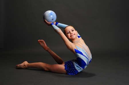 Studio Portrait Of Young Female Gymnast