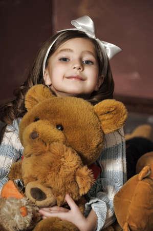 girl with a bear-cub
