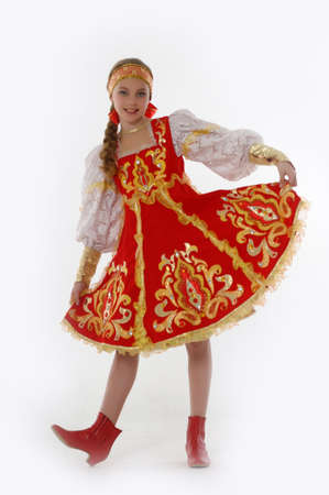 girl  In Russian Traditional Clothing