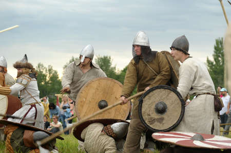 The museum-preserve Old Ladoga (Leningrad, Volkhov district,. Staraya Ladoga) annual military-historical festival early Middle Ages First Capital of Russia.