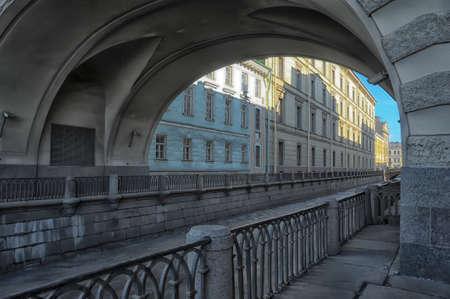 Saint - Petersburg, Sights of Saint-Petersburg, the Hermitage bridge, Winter groove,