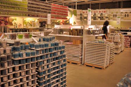 Inside Ikea store in Petersburg, Russia.
