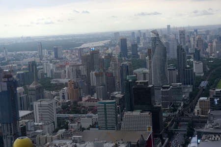 Thailand, Bangkok 24,08,2018 View from Bangkok sky  of the city and the sky before the rainのeditorial素材