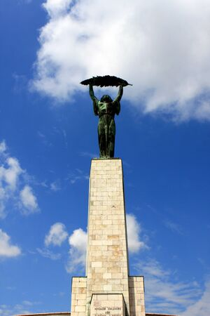 The Liberty Statue on the Gellert Hill, Budapest, Hungary