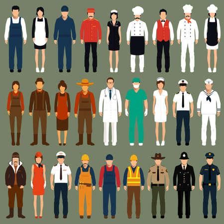 Illustration pour vector icon workers, profession people uniform, cartoon vector illustration - image libre de droit