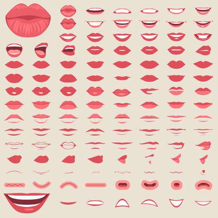 Ilustración de Different vector illustration of lips - Imagen libre de derechos