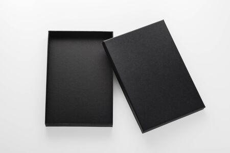 Photo pour Open black box mockup isolated on white background - image libre de droit