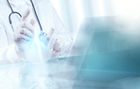 Photo pour success smart medical doctor working with operating room as concept - image libre de droit