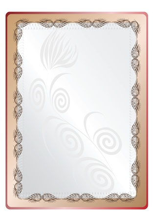 Vector frame for a photo with an openwork pattern and an empty space inside