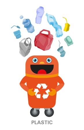 Photo pour Waste sorting and recycling concept. Color ilustration. - image libre de droit