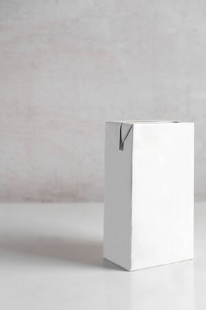 Photo for white box of milk on the table - Royalty Free Image