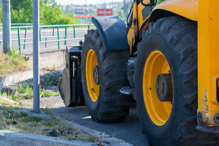 Photo for huge tractor wheels - Royalty Free Image