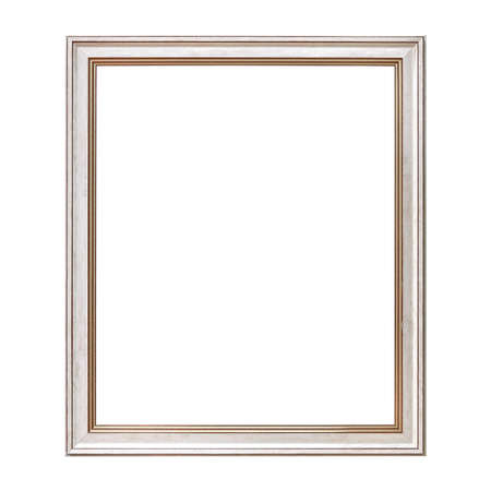 Photo pour White Framework in antique style. Vintage picture frame isolated on white background. - image libre de droit