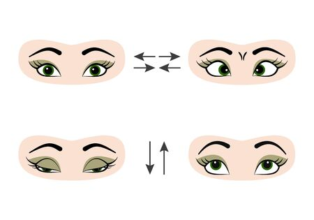 Set of exercises for the eyes : Royalty-free vector graphics