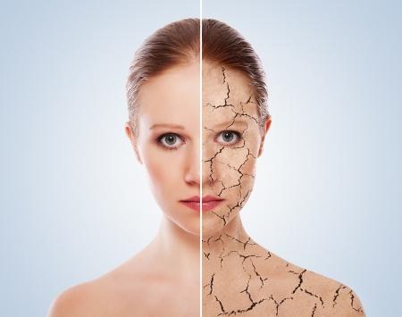 Photo pour concept of cosmetic effects, treatment, skin care.  - image libre de droit