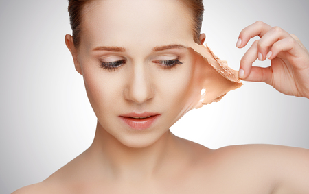Photo for beauty concept rejuvenation, renewal, skin care and skin problems - Royalty Free Image