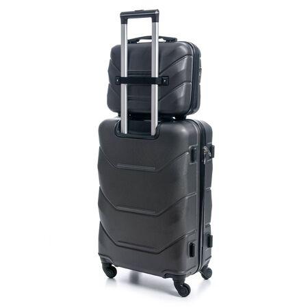 Foto de Black travel suitcase on white background isolatio - Imagen libre de derechos