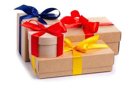 Photo for Many boxes with ribbon gift - Royalty Free Image