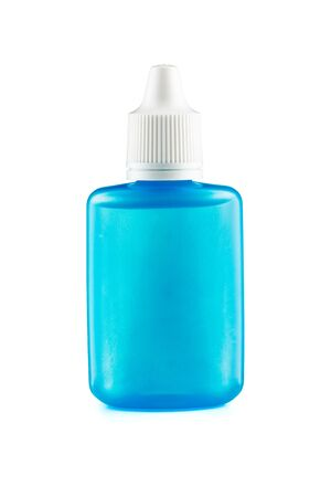 Plastic Container For Eye Drop Isolated On White Background With Clipping Path